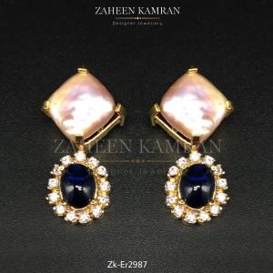 Sapphire Zircons Studs!