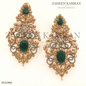 Emerald Topaz Danglers!