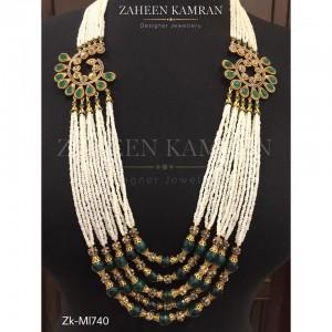 Emerald Pearls Barooch Mala!