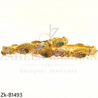 Emerald agate Bangles