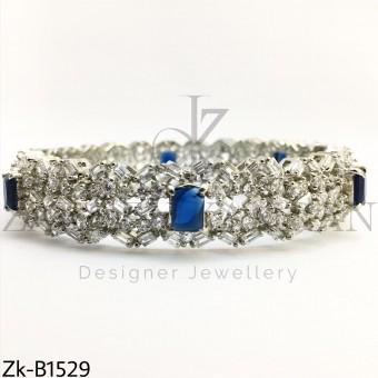 Silver sapphire bangle