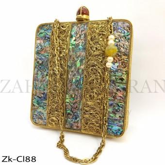 Marbled Gold clutch