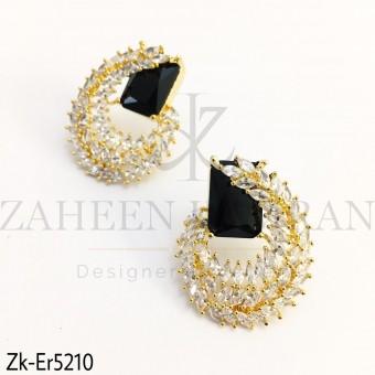 Agate Zirconia Earrings