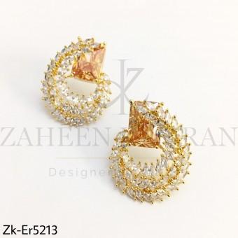 Champagne Zirconia Earrings
