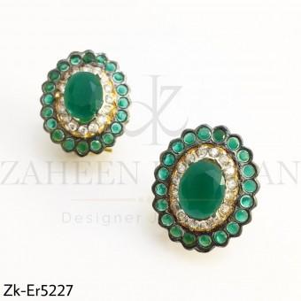 Emerald Oval Studds