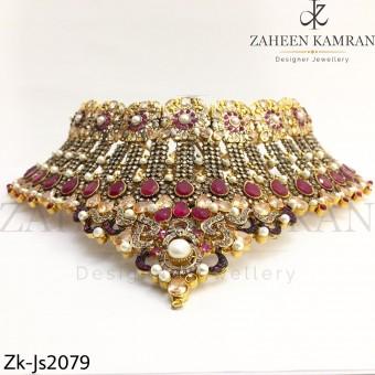 Elegant Ruby Bridal Set