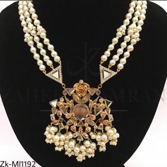 Mirror pearl mala