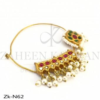 Traditional kundan Nath