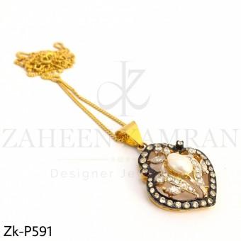 Champagne pearl pendant