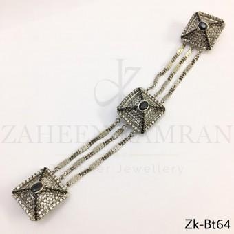 Zirconian agate metallic buttons