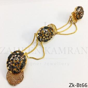 Agate golden Button