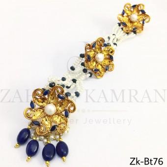 Sapphire floral buttons