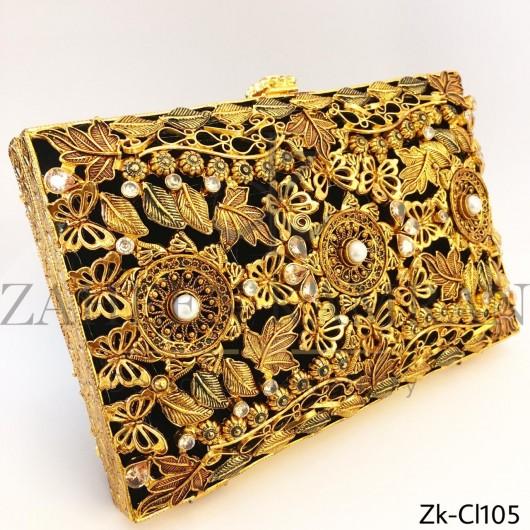 Signature golden clutch