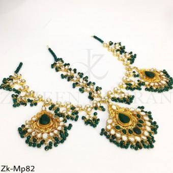 Kundan emerald mathapatti