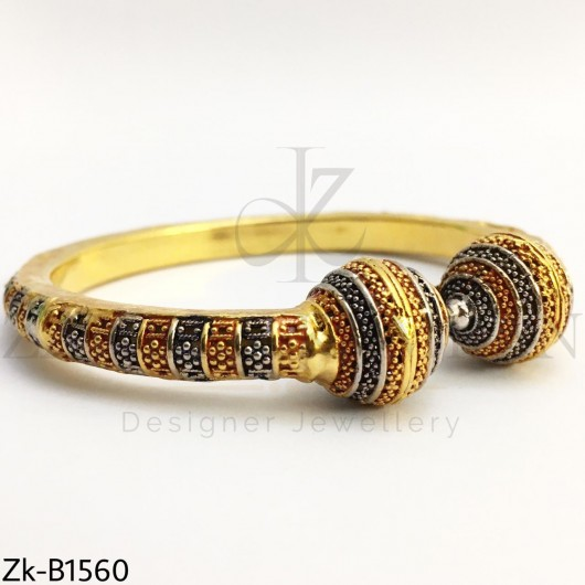 2 toned Ball Bangle