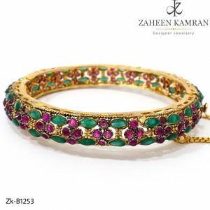 Traditional Emerald Marquise Bangle