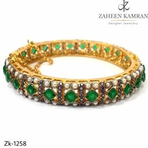 Emerald Chain Bangle