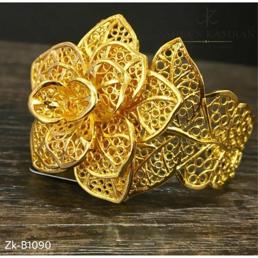 Floral Golden Bangle