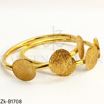 Textured coin bangles