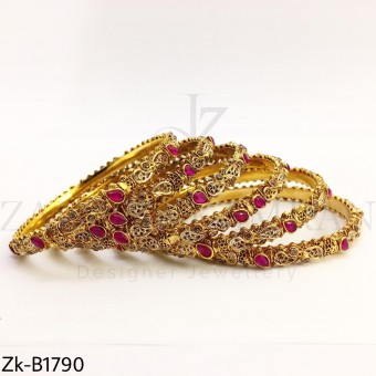 Golden ruby bangles