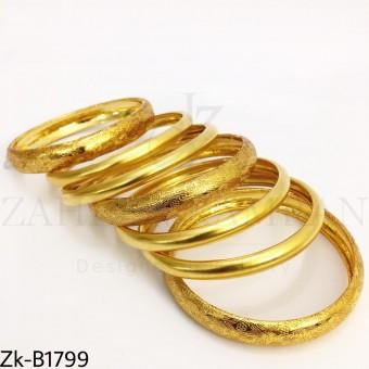 Golden texture bangles