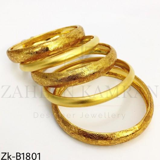 Textured matte bangles