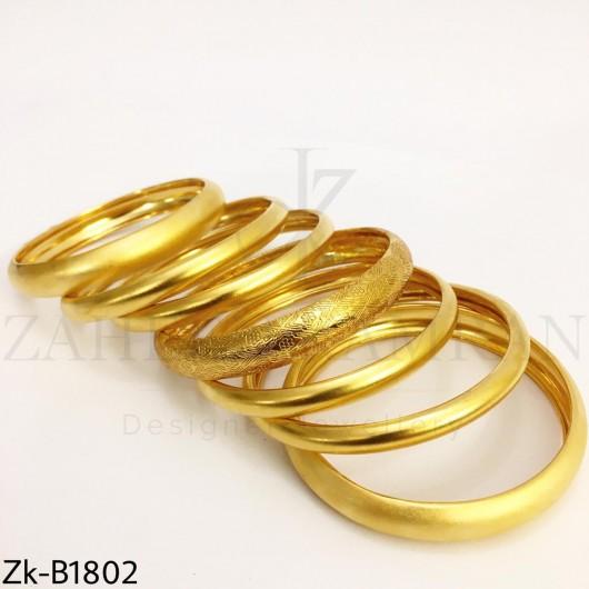 Golden bangles set