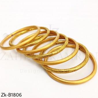 Thin matte textured bangles