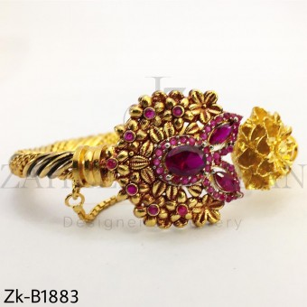 Ruby gold Bangle
