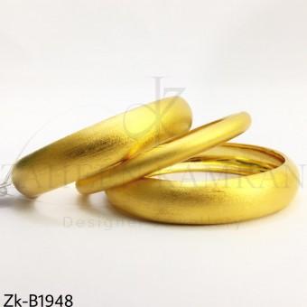 Matte polished bangles
