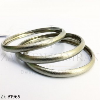 Silver shiny bangles