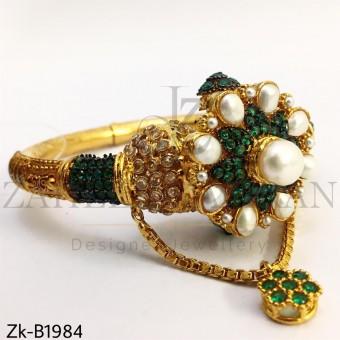 Emerald vintage bangle