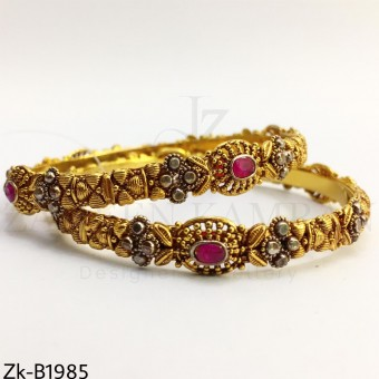 Ruby detailed bangles
