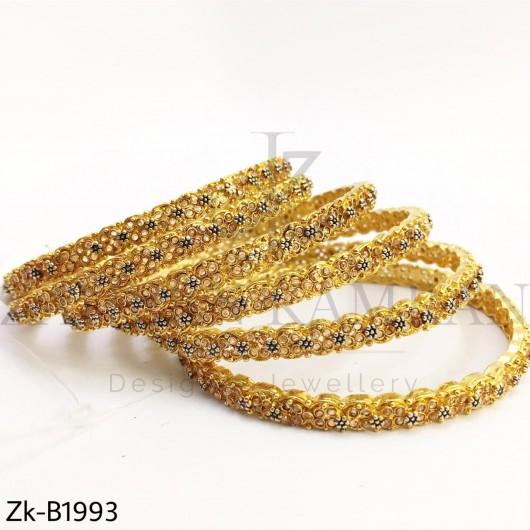 Champagne gold bangles