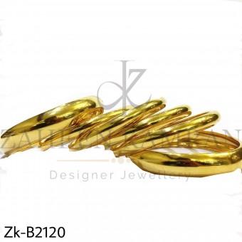 Golden shiny bangles
