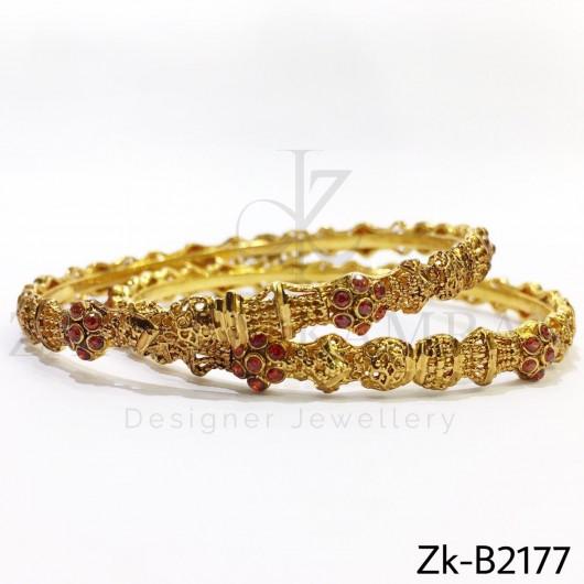 Golden orange bangles
