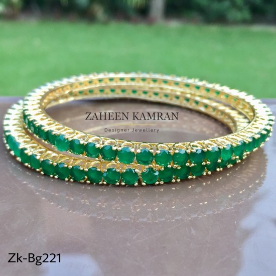 bangle bangles jewels emeralds gold pinterest latest emerald pin