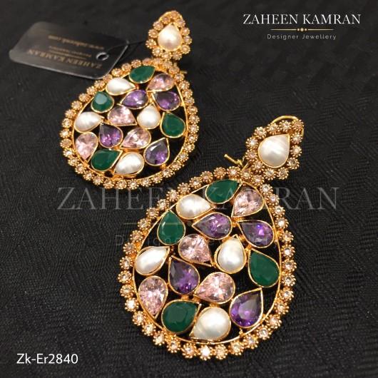 Multi Kundan Earrings!