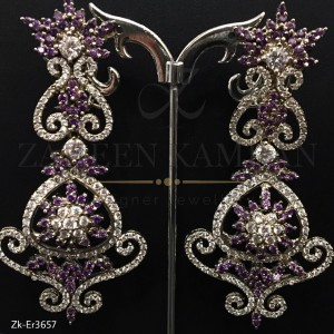 Amethyst Zircons Earrings