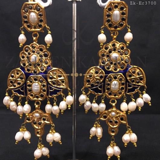 Pearls Meena Danglers
