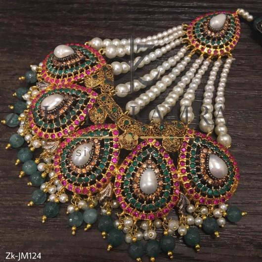 Emerald Pearls Jhoomer