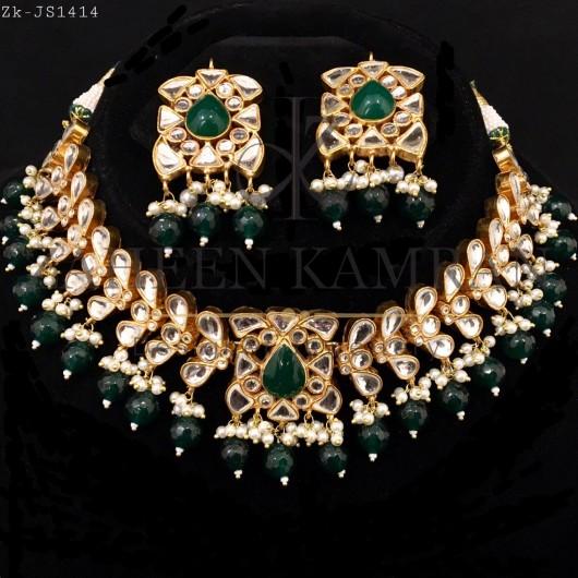 Emerald Kundan Choker