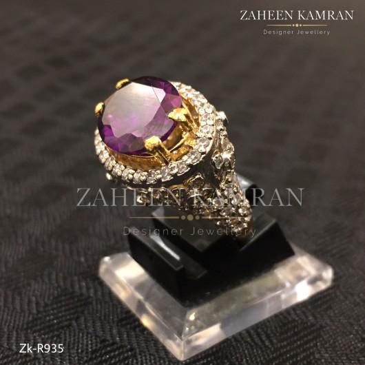 Amethyst Zircon Ring!