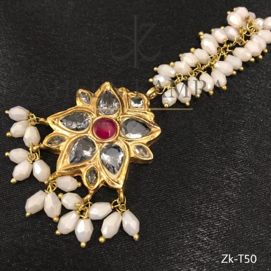 Sea Pearls Kundan Bindia