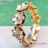Flower Kundan Bangle!