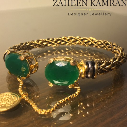 Emerald Twisted Bangle!