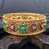 Handmade Emerald Bangle!