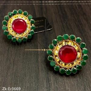 Emerald Round Studs