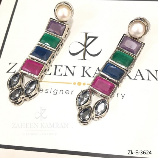 Multi Adorned Earrings