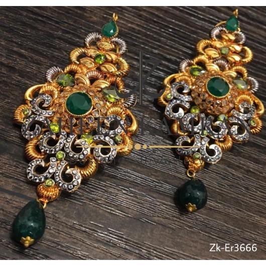 Emerald Filigree Earrings